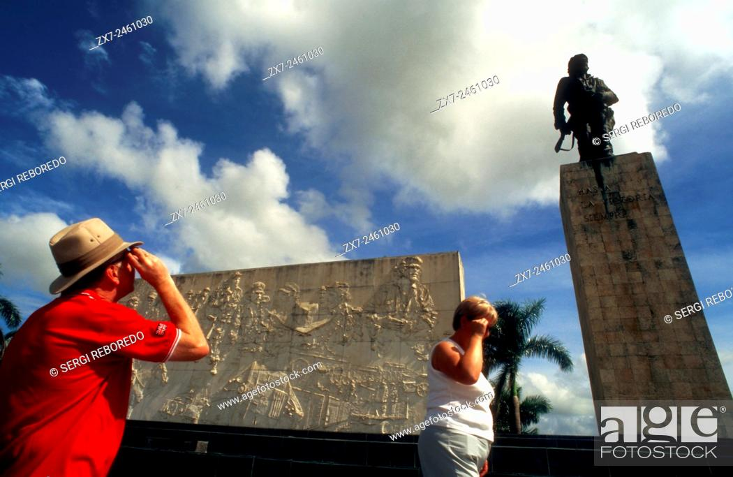 Stock Photo: Tourists in Monument and mauseleum in honour of the national hero Che Guevara, Santa Clara, Cuba.
