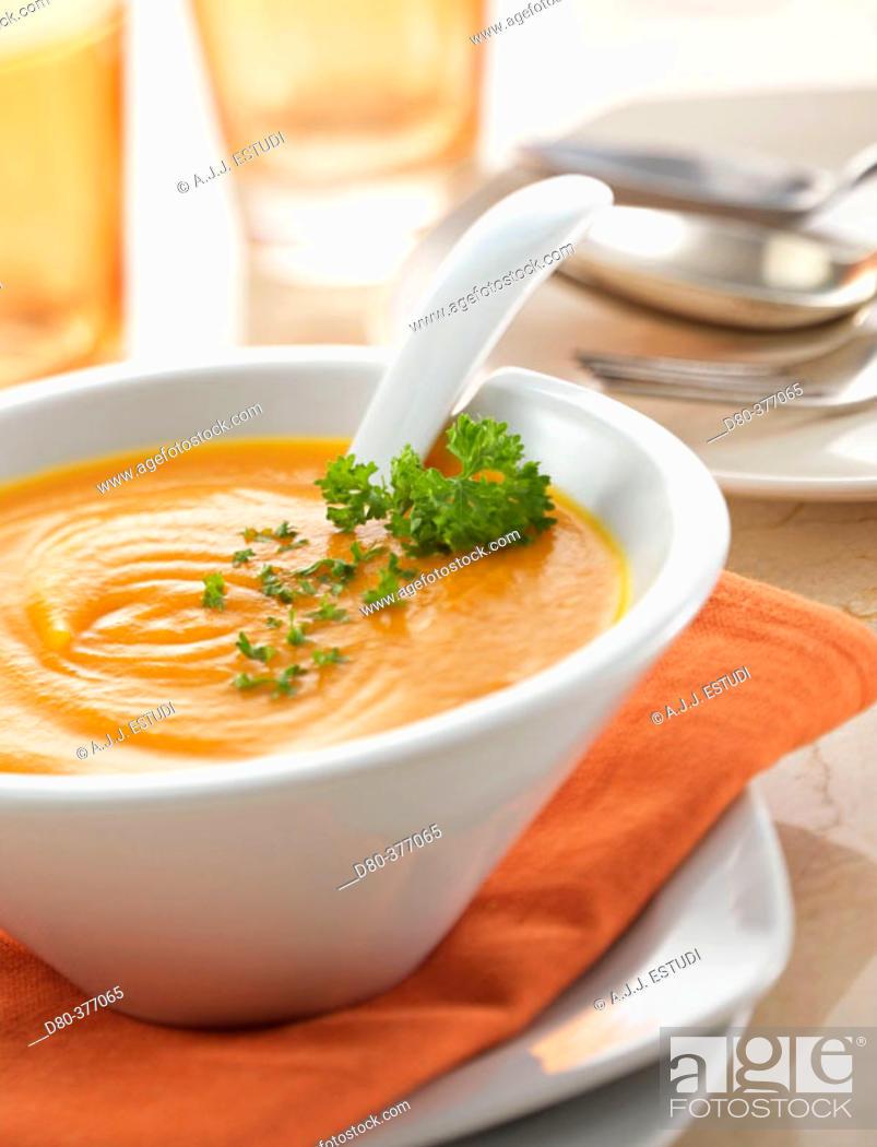 Stock Photo: Carrot cream.