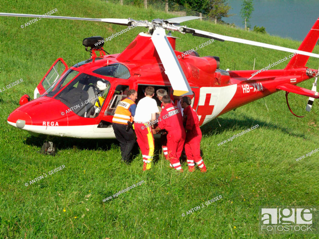 Stock Photo: Rescue helicopter.