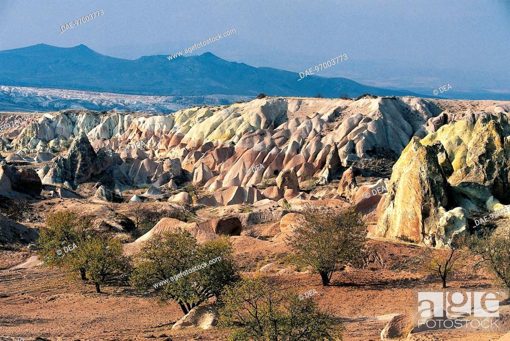 Stock Photo: Turkey - Cappadocia - Goreme Valley (UNESCO World Heritage List, 1985).