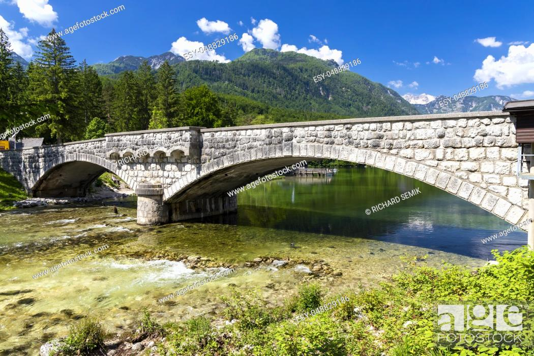 Stock Photo: Lake Bohinj in Triglav national park, Slovenia.
