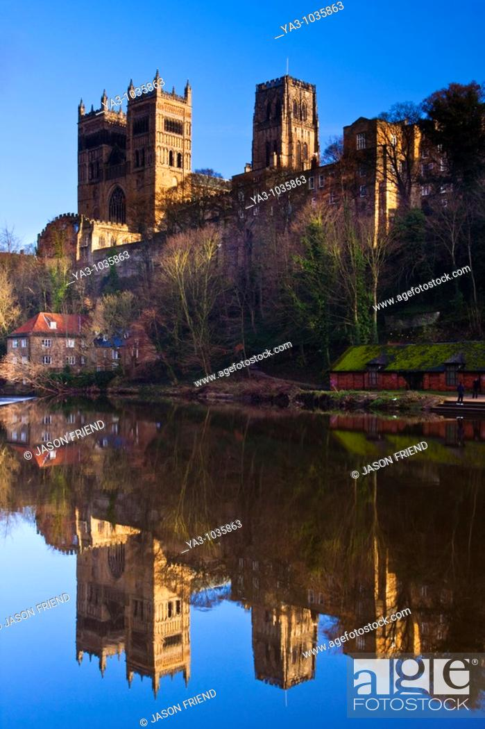 England County Durham Durham City Durham Cathedral Situated Above