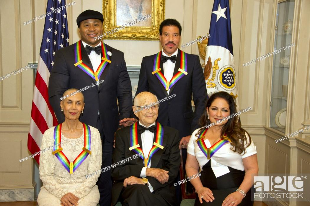Stock Photo The Five Recipients Of 40th Annual Kennedy Center Honors Pose For A