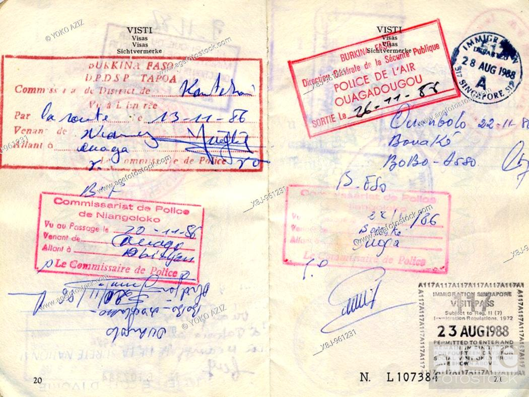 Stock Photo: Visa, Burkina Faso.