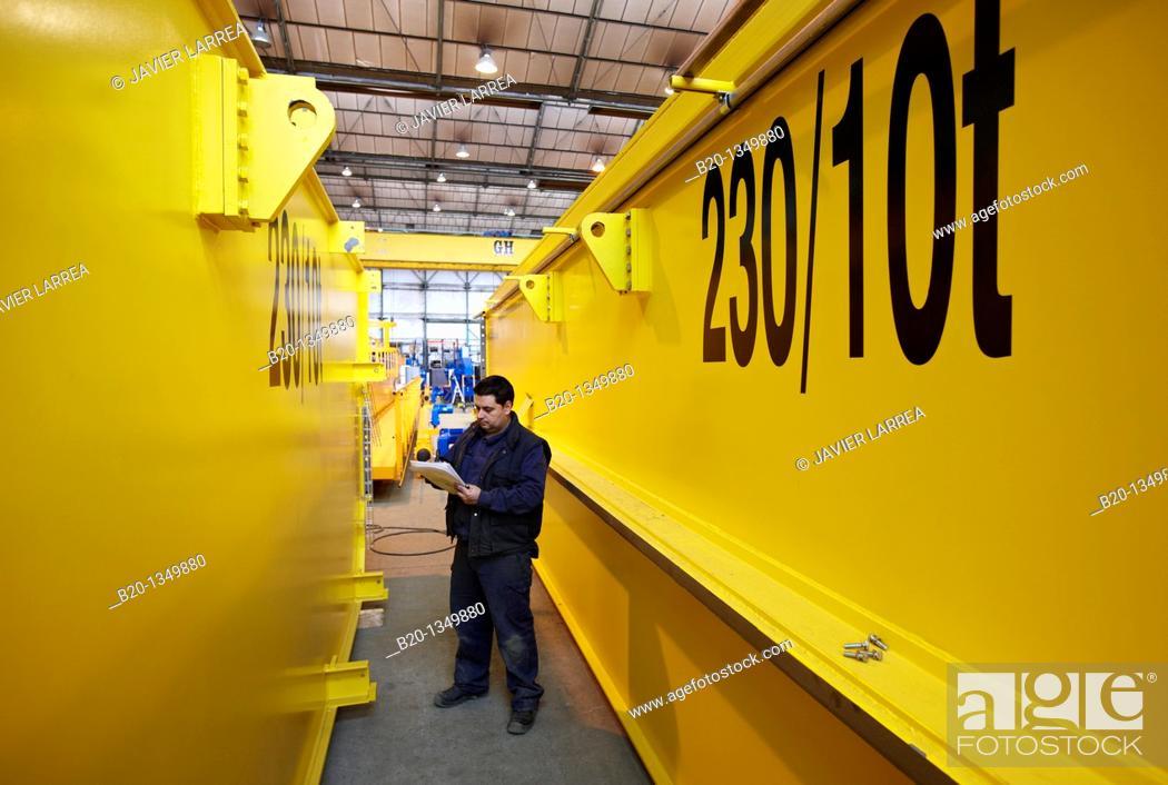 Stock Photo: Bridge crane manufacture, Gipuzkoa, Euskadi, Spain.