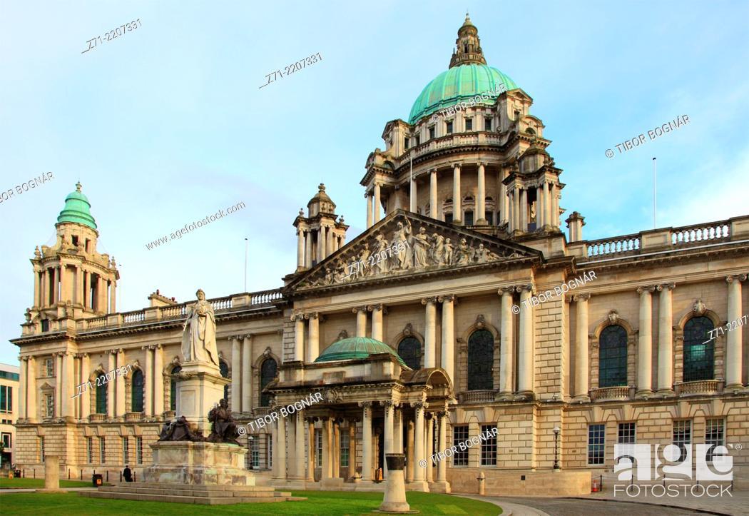 Imagen: UK, Northern Ireland, Belfast, City Hall, .