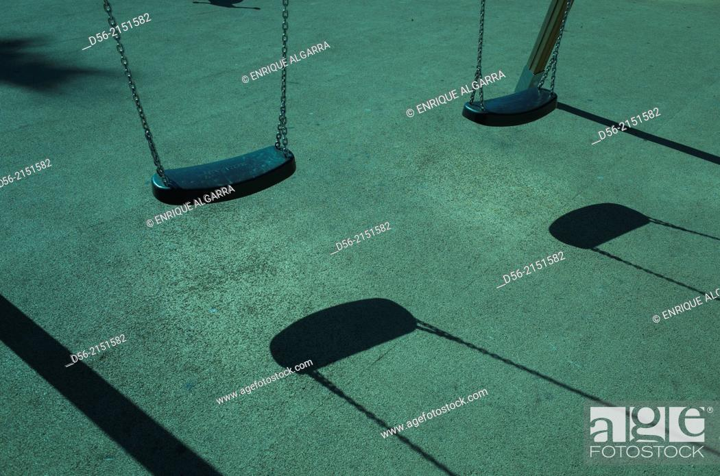 Stock Photo: playground park for children, Valencia, Spain.