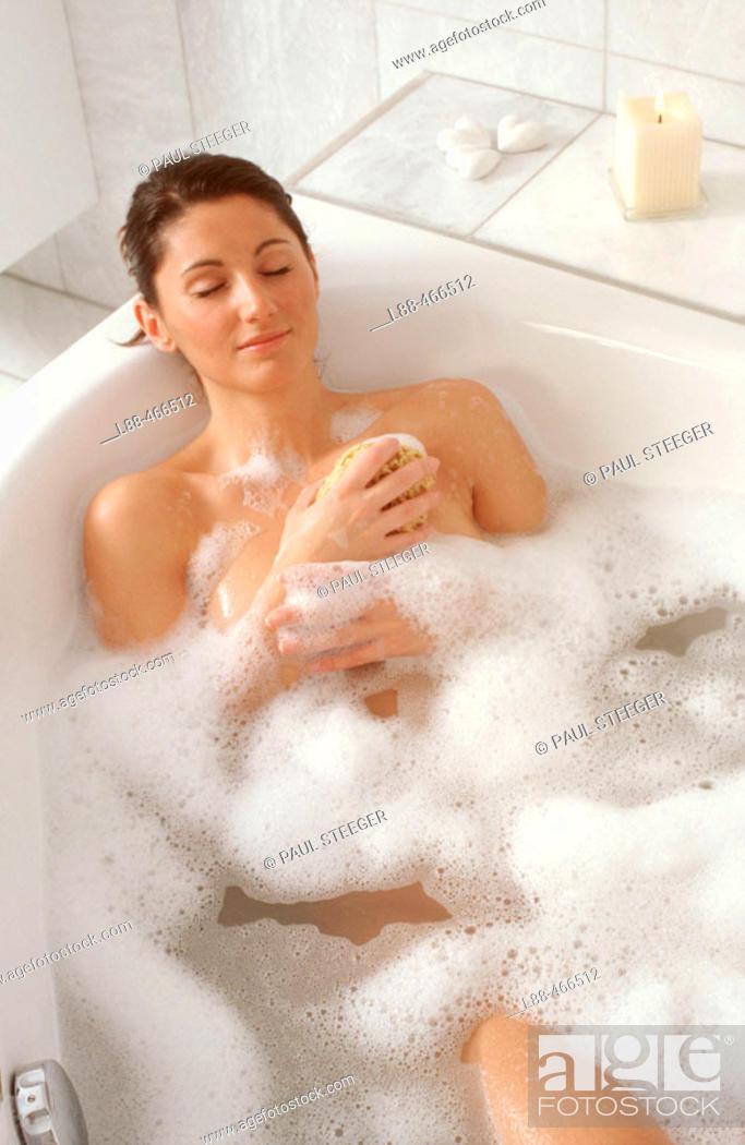 Stock Photo: Woman in bathtub.