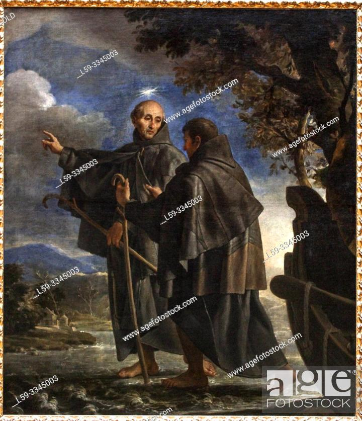 Imagen: 'St. Peter of Alcántara Walking across the River', 1690, Claudio Coello (1642-1693).