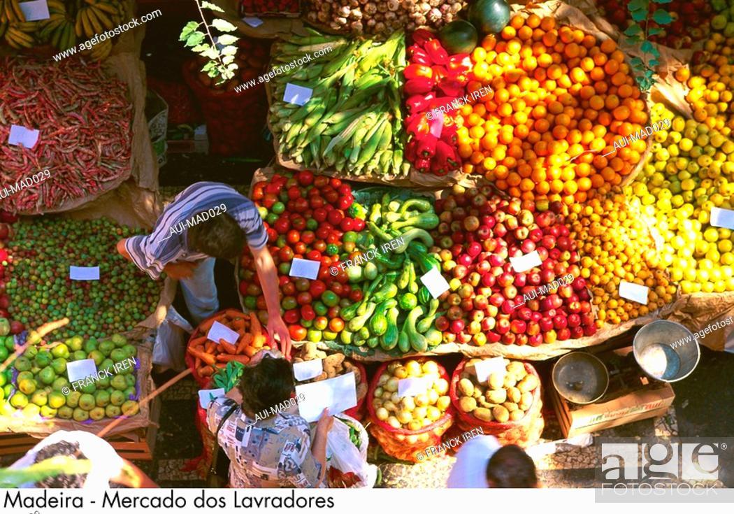Stock Photo: Portugal - Madeira - Mercado dos Lavradores.