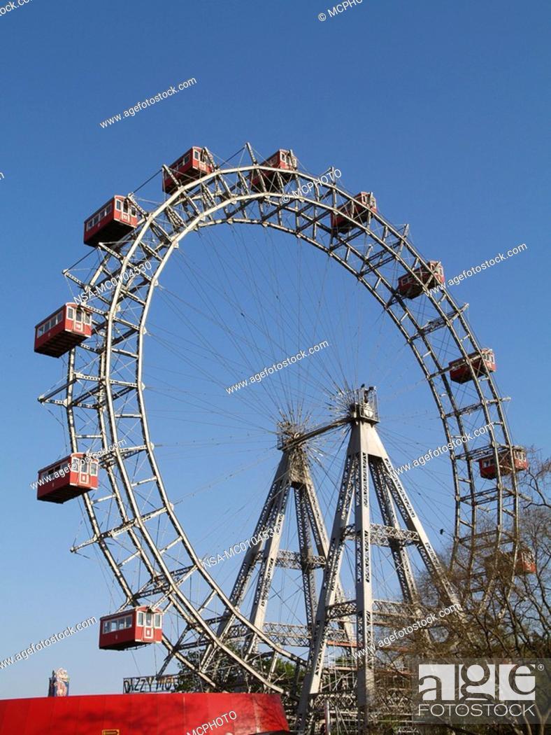 Stock Photo: Vienna, Giant Ferry Wheel.