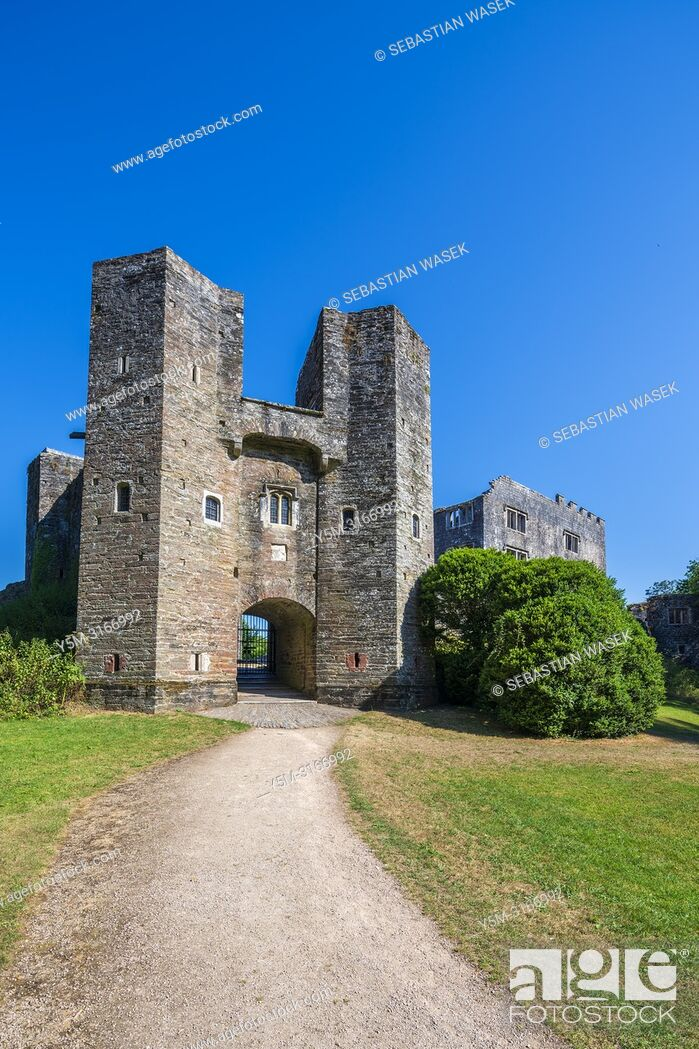 Stock Photo: Berry Pomeroy Castle, Devon, England, United Kingdom, Europe.