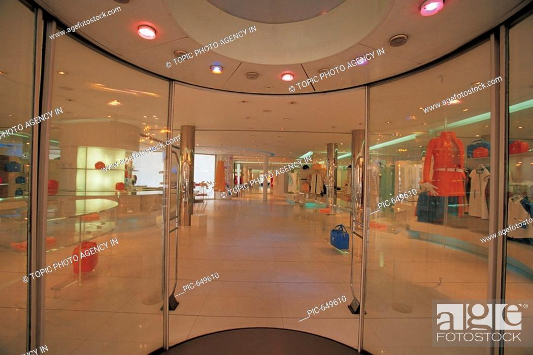 shopping center paris france stock photo picture and rights