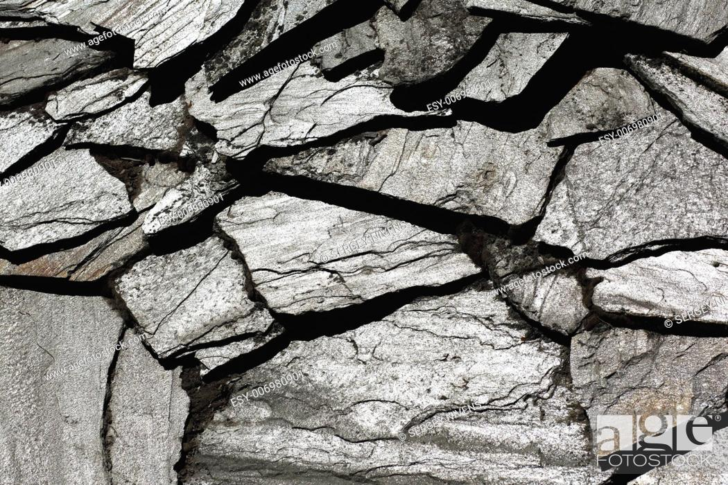 Stock Photo: Image of stone rock texture wall. background closeup.