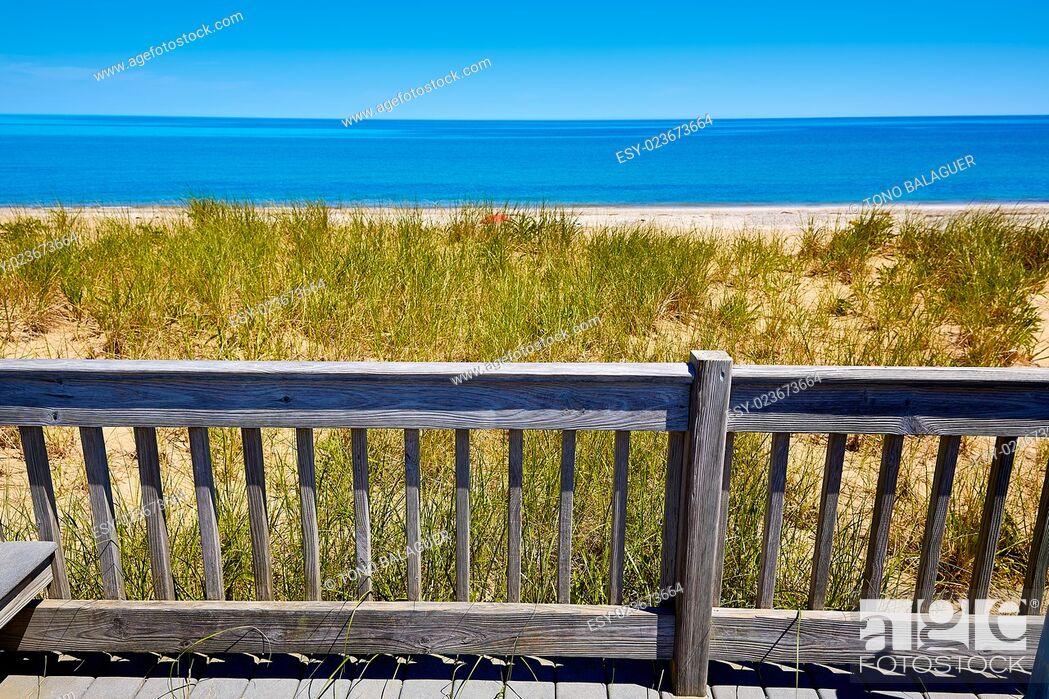 Stock Photo: Cape Cod Sandy Neck Beach in Barnstable Massachusetts USA.