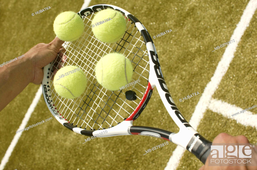 Men's hands, tennis rackets, Balls, balances Tennis court, man, hands,  clubs, holding, tennis balls, Stock Photo, Picture And Rights Managed  Image. Pic. MB-03793810 | agefotostock
