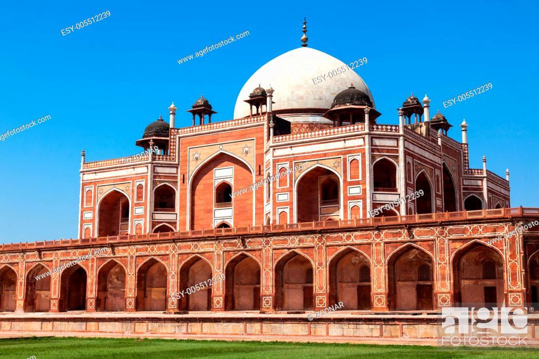 Stock Photo: Humayun's Tomb. Delhi.