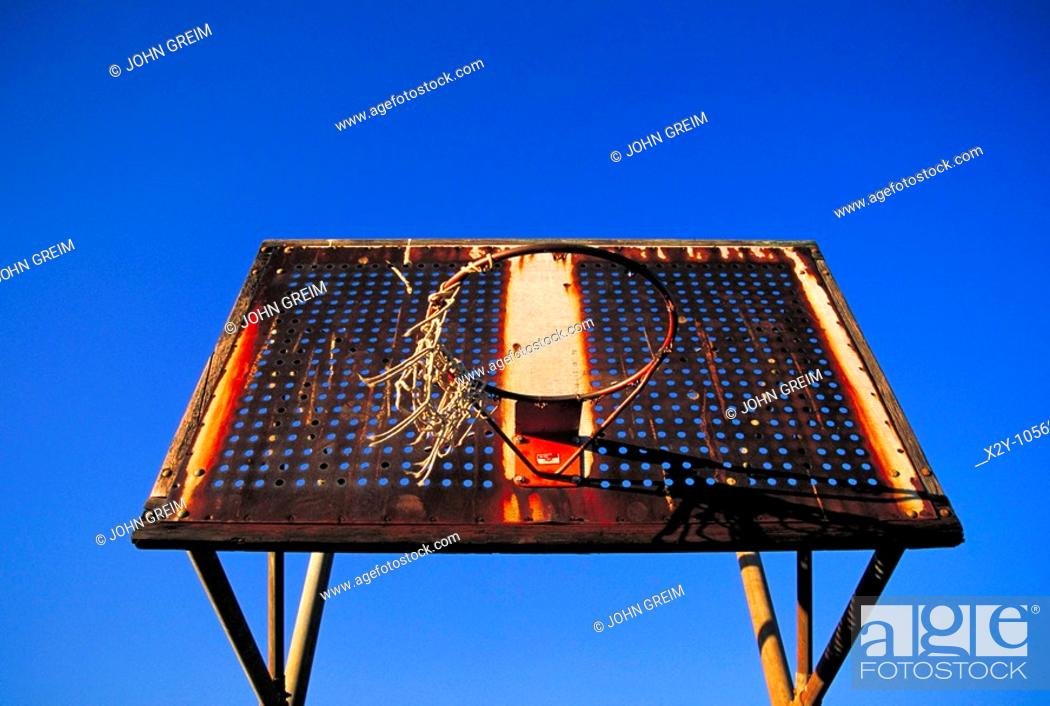 Stock Photo: Basketball net.