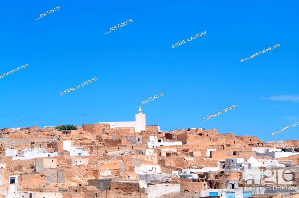 Stock Photo: Tunisia - The South - Jebel Dahar Region - Tamezret village.
