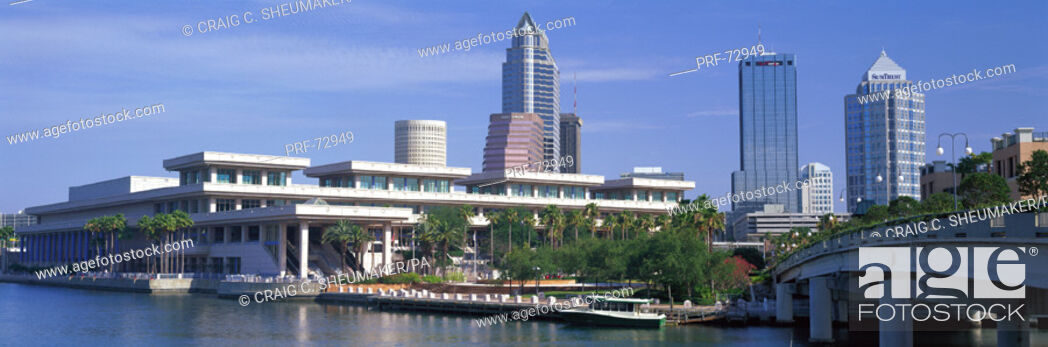 Stock Photo: Tampa Convention Center Skyline Tampa FL USA.