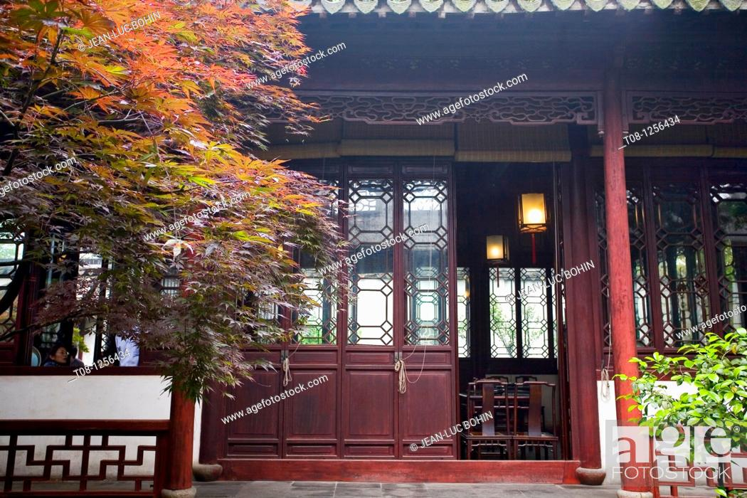 Stock Photo: China, Suzhou: Garden of Simple Policy.