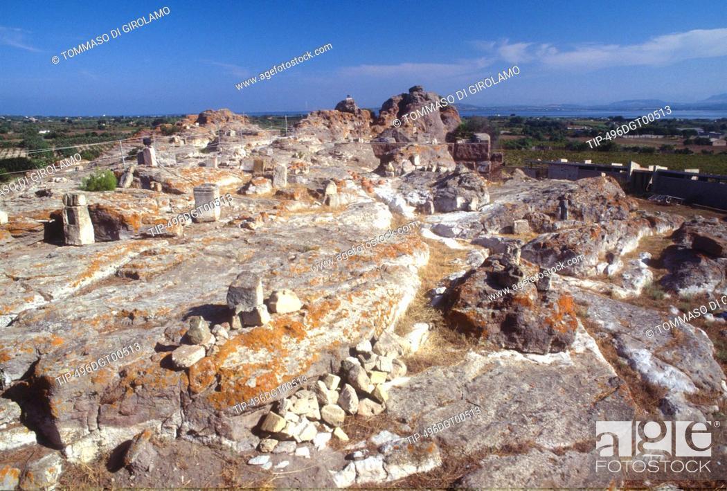 Stock Photo: Italy, Sardinia, Island of Sant Antioco, Tophet ruins.
