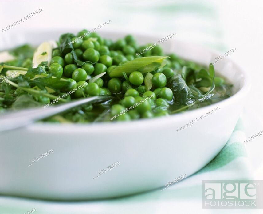 Stock Photo: Peas and green vegetables.