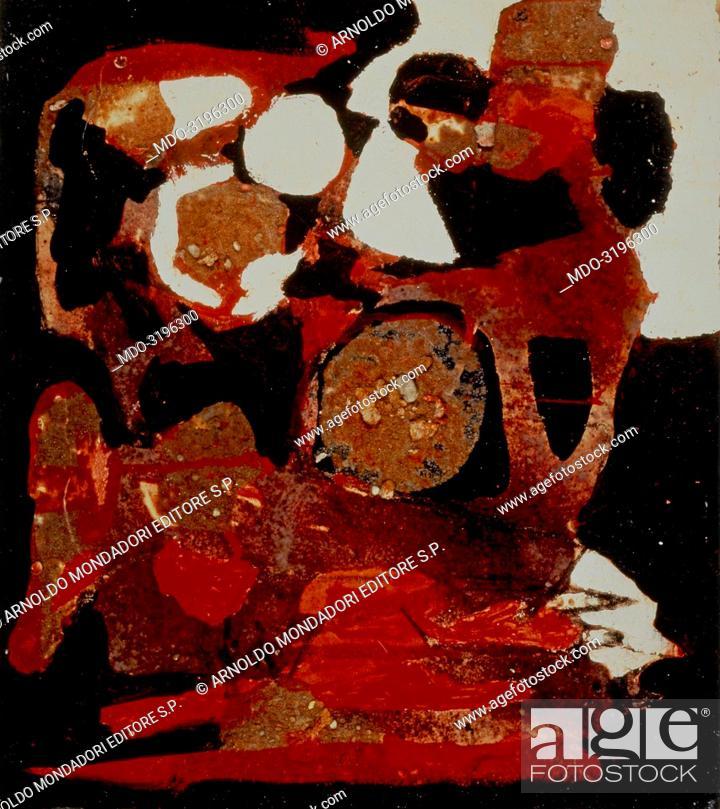 Stock Photo: Mold (Muffa), by Alberto Burri, 1952, 20th Century, mixed media (oil, pumice stone and Vinavil on canvas).