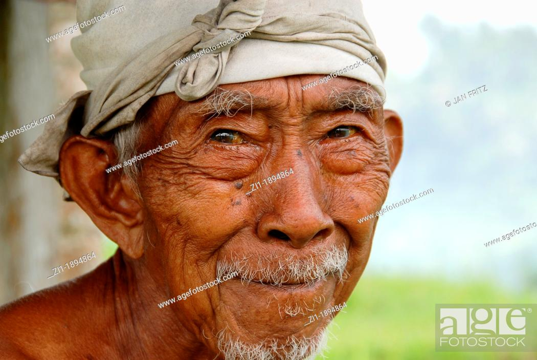 Photo de stock: portrait of old indonesian man.