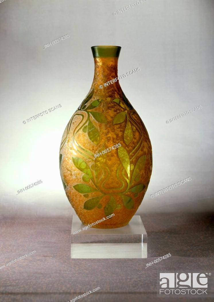 Stock Photo: Jugendstil, Glas, Vase, Deutschland um 1900, historisch, Kunst,.