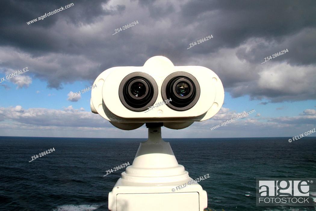 Stock Photo: Prismatics at Cabo Busto, Asturias, Spain.