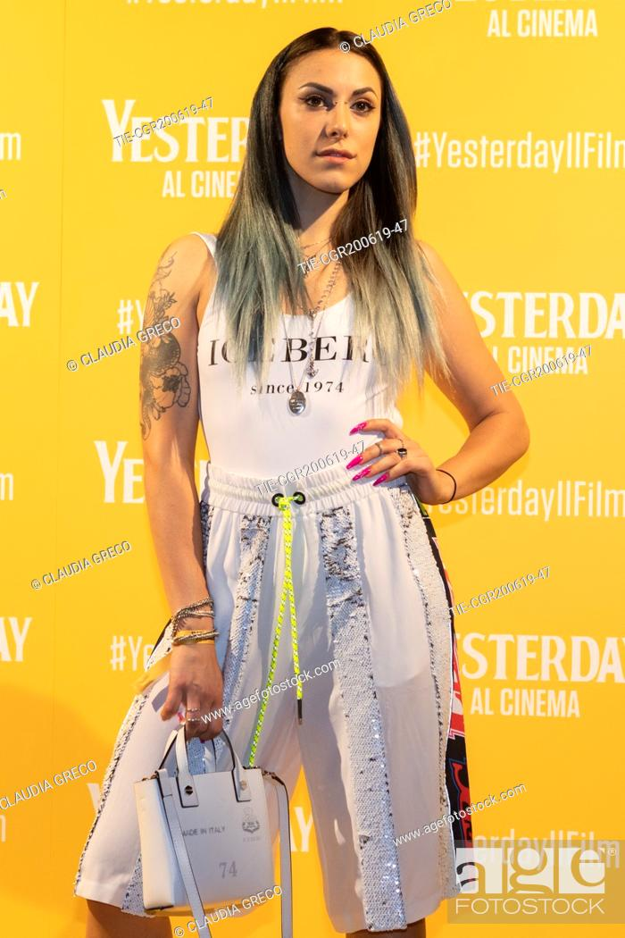 Imagen: Beba during the photocall of film ' Yesterday ' in Milan, ITALY-20-06-2019.