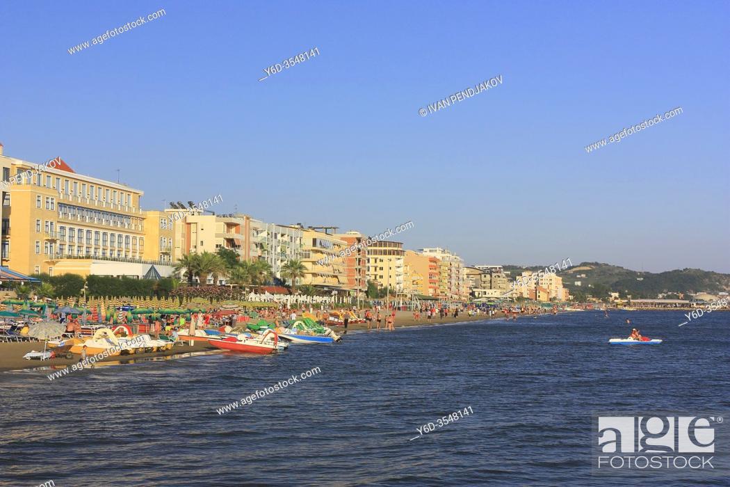 Stock Photo: Durres Beach, Albania.