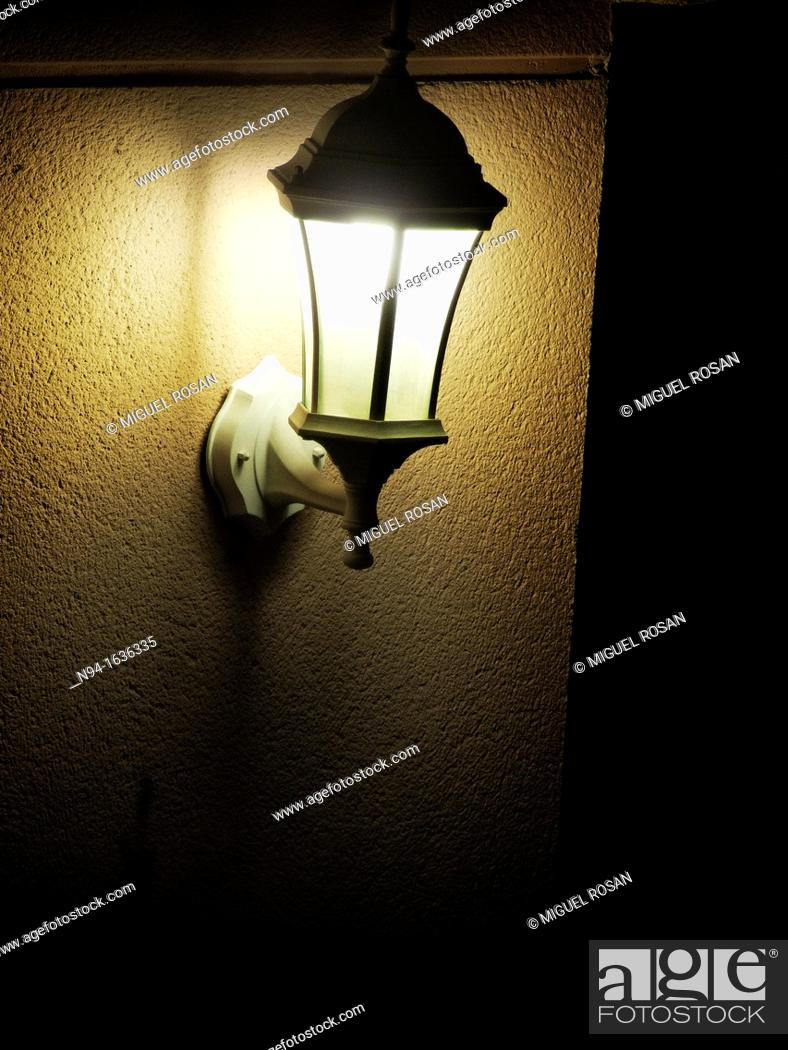 Stock Photo: Apply light on an old wall tiles.