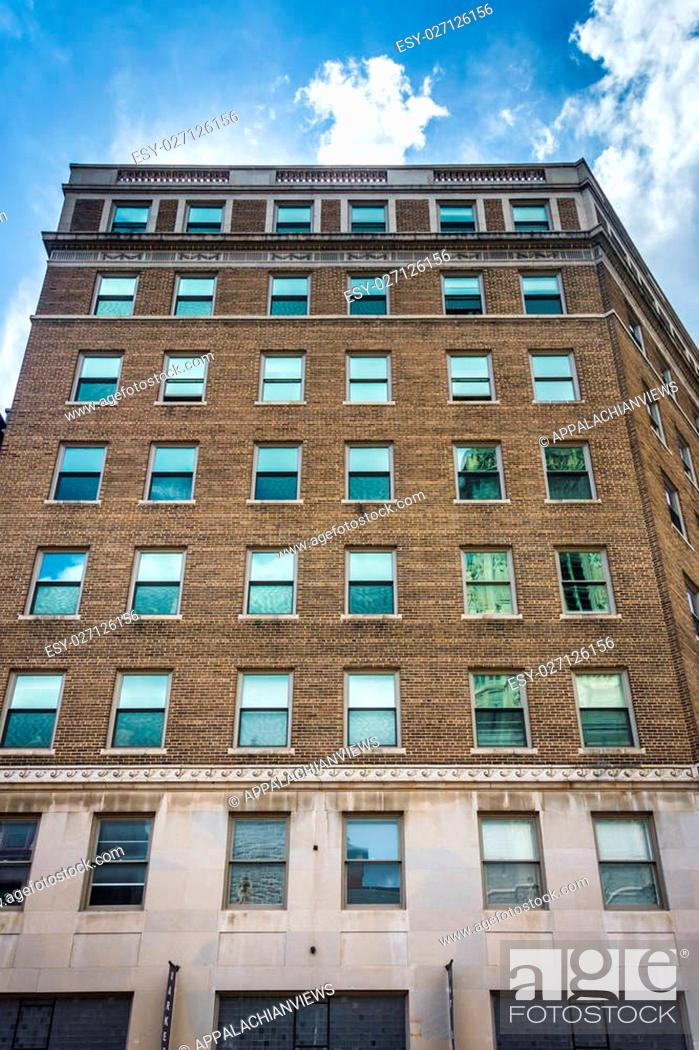 Stock Photo: Old highrise in Baltimore, Maryland.