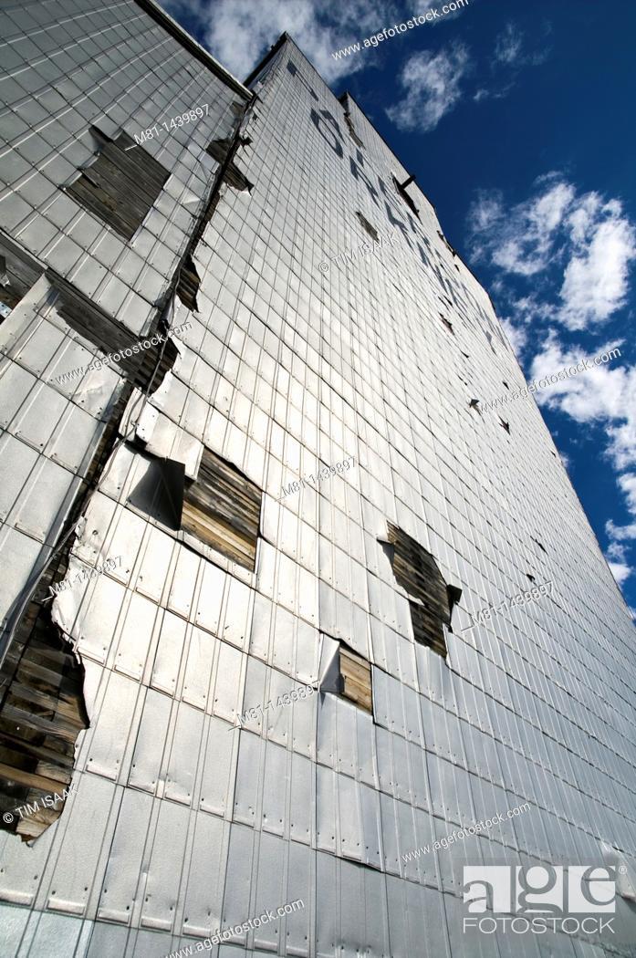 Stock Photo: Grain elevator, Orkney, Saskatchewan, Canada.