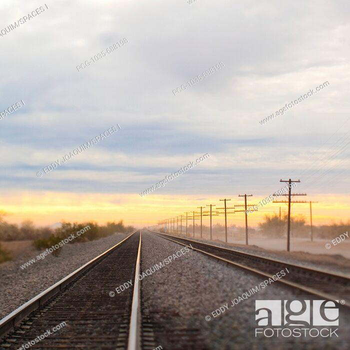 Stock Photo: Railroad Tracks.