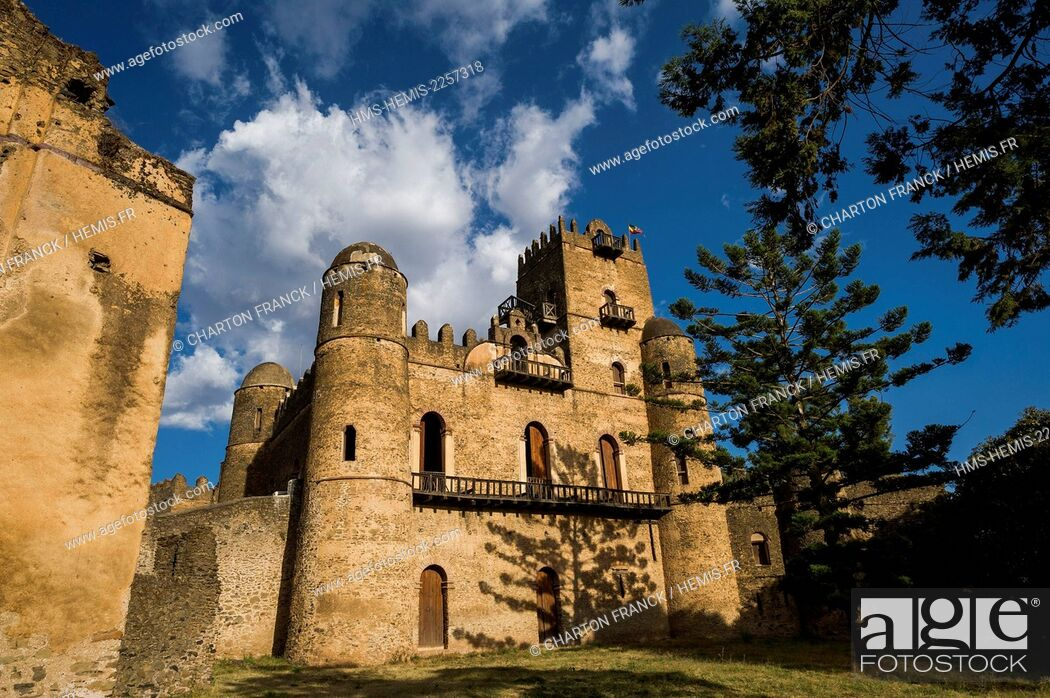 Stock Photo: Ethiopia, Gondar, middle age castles of the Fasilidas dynasty, listed as World Heritage by UNESCO.