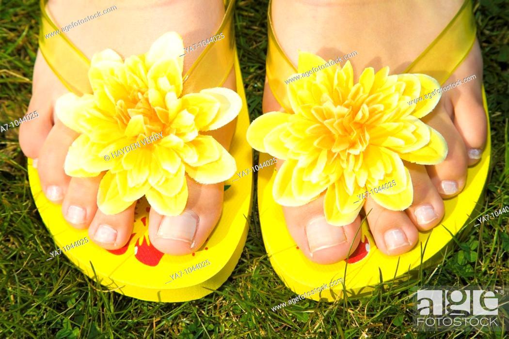 Stock Photo: Flip Flops.
