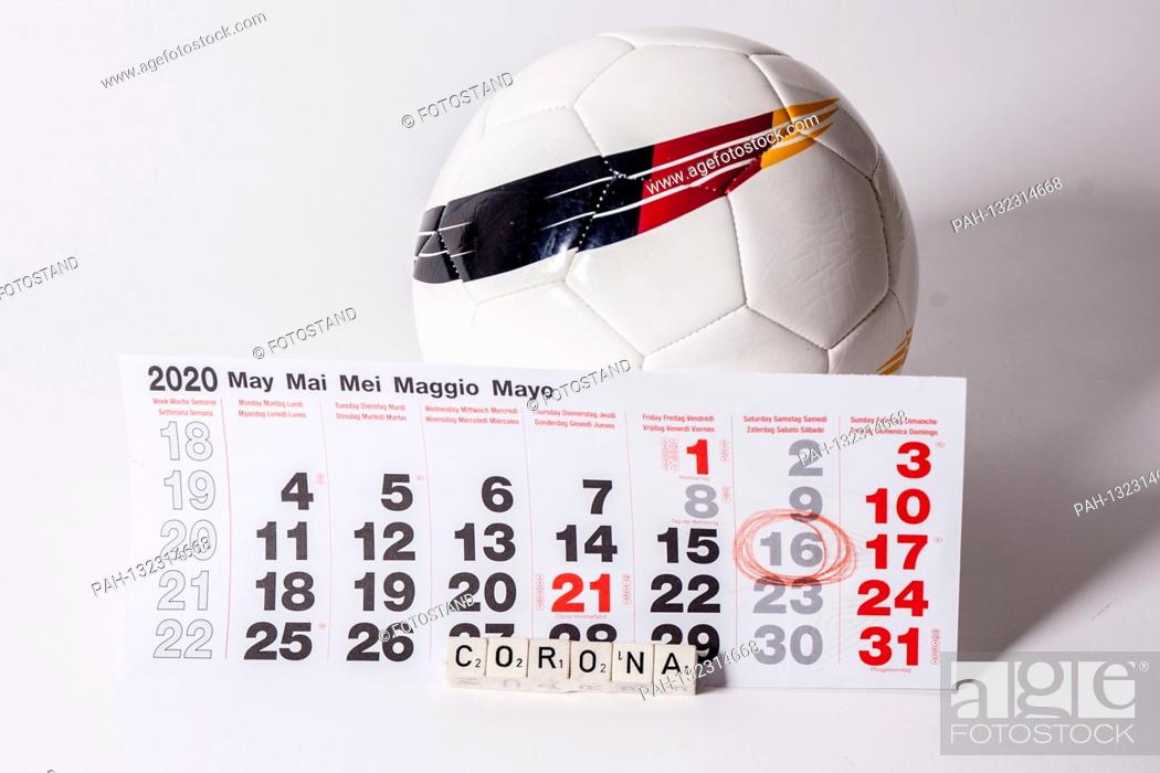Stock Photo: Germany 11.05.2020: Symbolic images - 2020 The ball rolls again on May 16, 2020 in the Bundesliga with strict hygiene requirements due to Coronavirus / Covid 19.