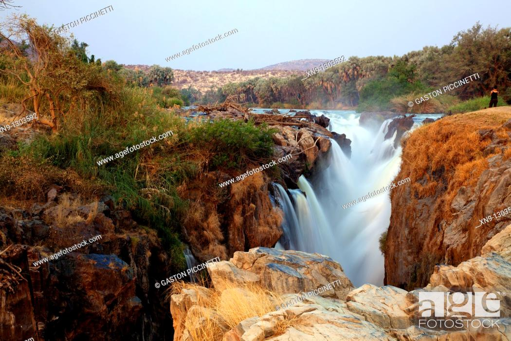 Stock Photo: Epupa falls, Kunene region, Kaokoland, Northwest Namibia.