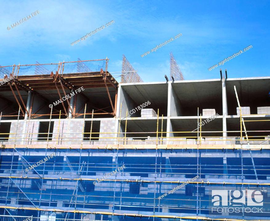Stock Photo: Hotel under construction.
