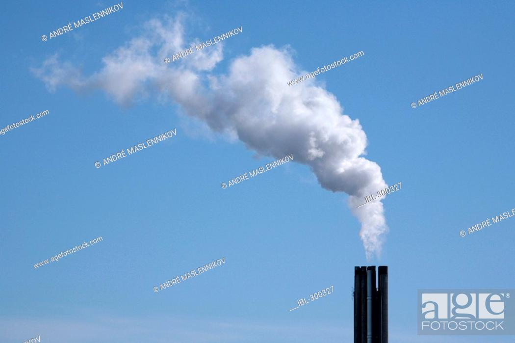 Stock Photo: Smoke from chimney.
