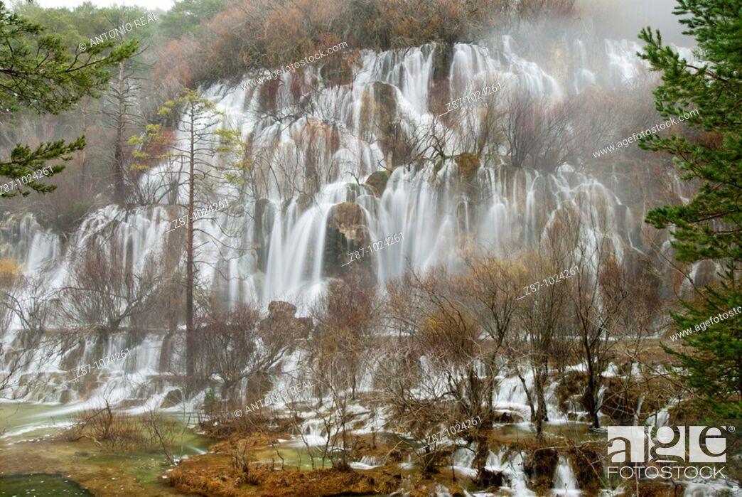 Stock Photo: Cuervo river source, Serrania de Cuenca Natural Park, Cuenca province, Castilla-La Mancha, Spain.