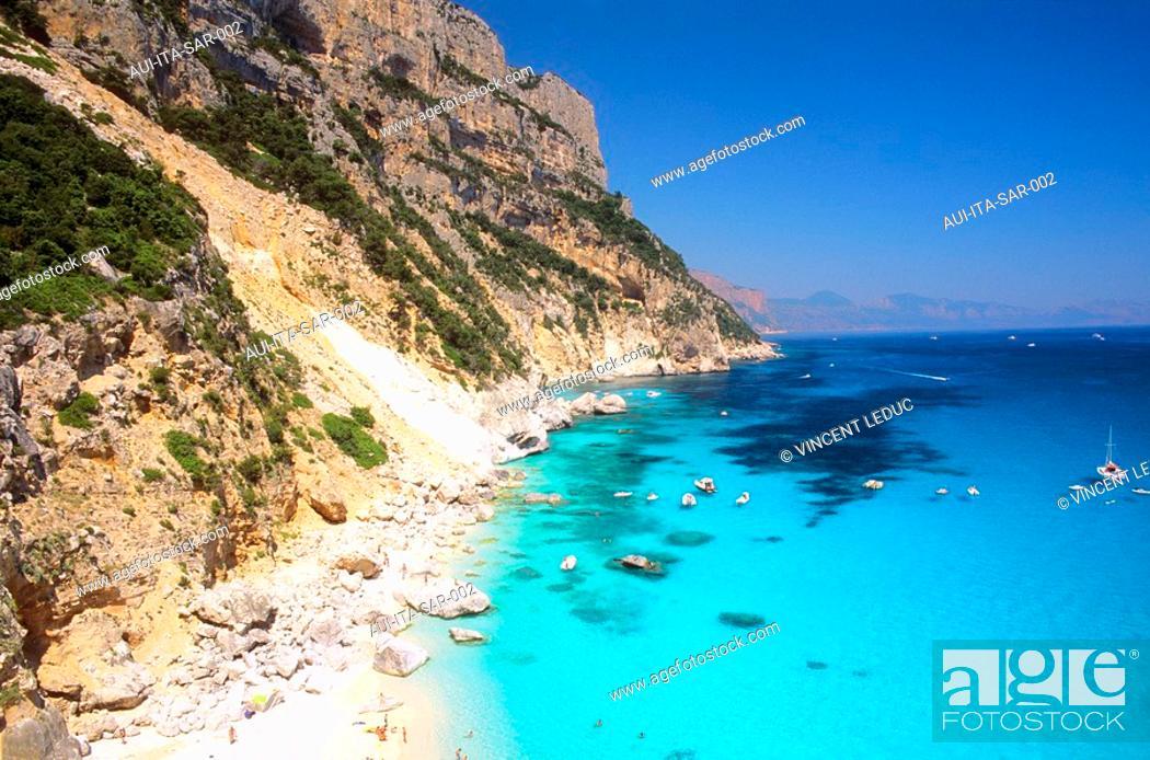 Stock Photo: Italy - Sardinia - East Region - Orosei Gulf - Cala Goloritze.