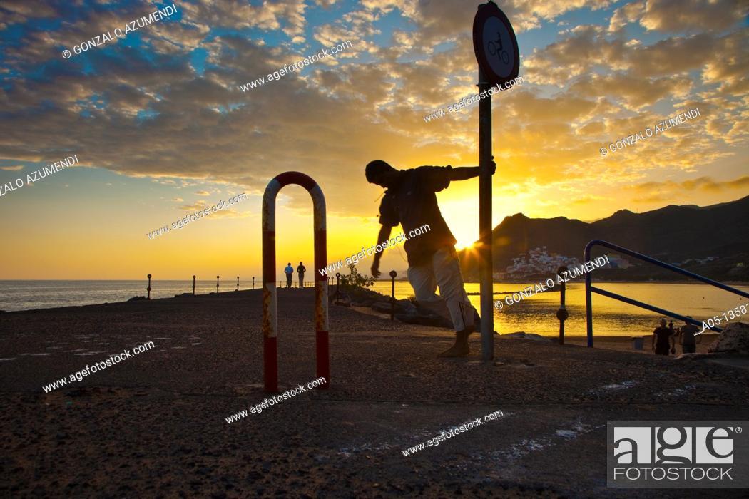 Stock Photo: Las Teresitas Beach  Tenerife  Canary Islands  Spain.