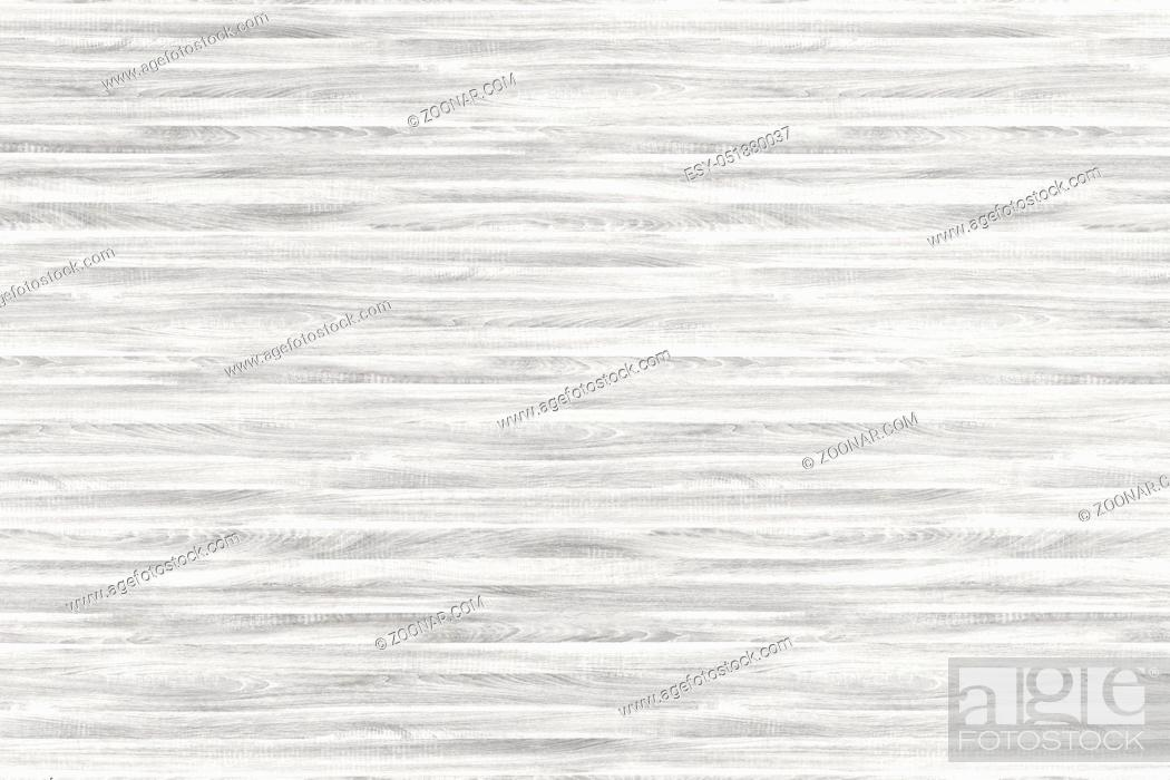 Stock Photo: White washed wooden planks, Vintage White Wood Wall.