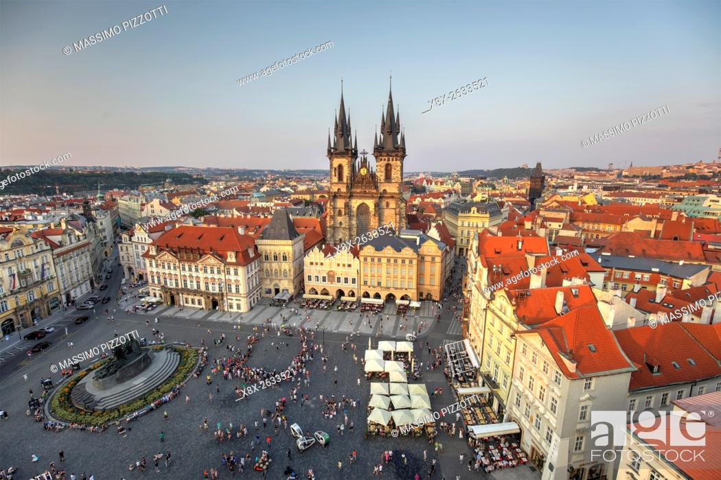 Stock Photo: Church of Our Lady before Týn in the Old town (Stare Mesto), Prague, Czech Republic.