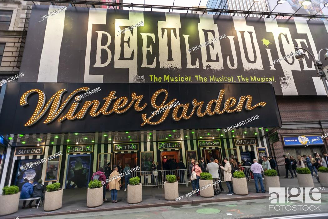 Throngs Of Theatergoers Descend On The Winter Garden Theatre On