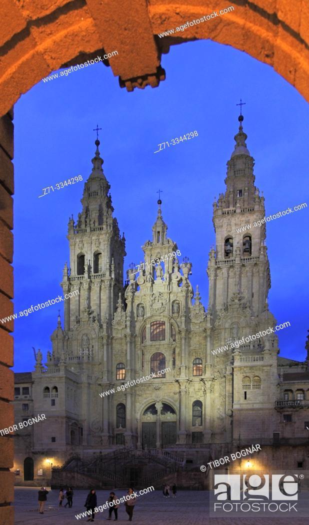Imagen: Spain, Galicia, Santiago de Compostela, Cathedral, .